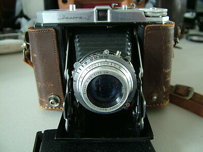 Vintage Dacora II, Folding Bellows, Roll Film Camera in Case