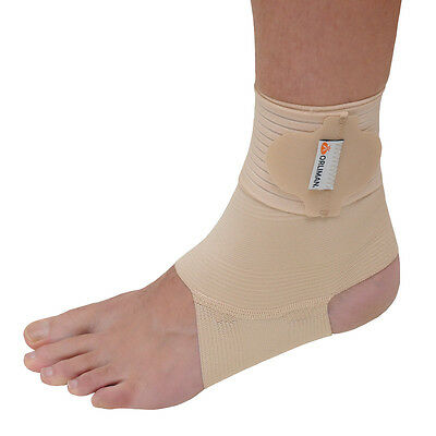 Adjustable Elastic Ankle Support (Beige) - Ideal for sports