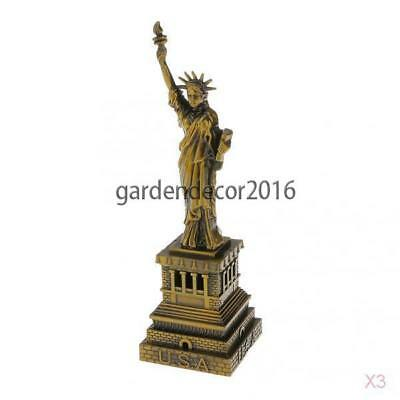 3x The Statue of Liberty Model Furnishing Articles Metal Crafts Decoration 15cm