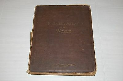 1923 PREMIER ATLAS OF THE WORLD - Rand McNally - Color maps