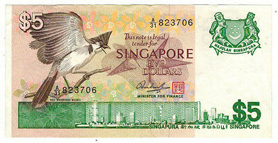 ND (1976) Singapore 5 Dollar Note, P# 10