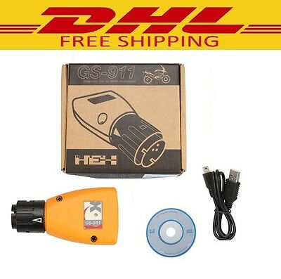 GS-911 V1006.3 Emergency Diagnostic Tool For BMW Motorcycles GS911 New DHL Free!