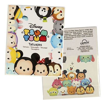 TSUM TSUM | 4 Sheets Temporary Tattoos | White Pack Party Tattoo Sheet Kids Fun