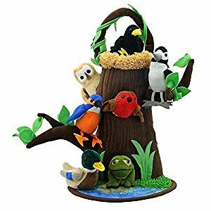 Puppet Company Tree House Hide Away finger puppets, treehouse and pond