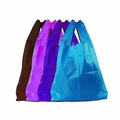 4pcs Recycle Shopping Bags Handle Foldable Reusable Colorful Tote Bag (Cerule...