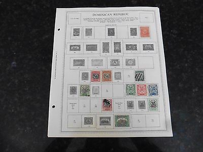C5 Lot of Dominican Republic stamps 1879-1965 Hinged on 9 Minkus Album Page