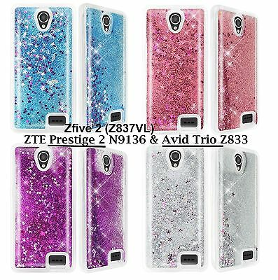 for ZTE Zfive 2 (Z837VL) - TPU RUBBER Floating Waterfall Liquid Phone Case Cover