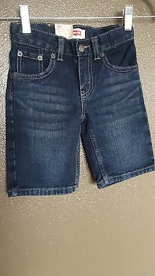 New Levis Dark Blue Denim 505 Straight Shorts Toddler Boy Kids Sz 3T