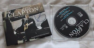 Eric Clapton Signed Rare Cd.  Stunning.