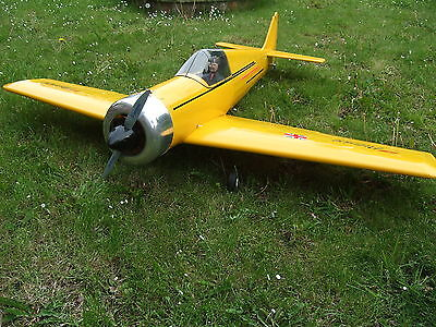 RC Radio Controlled Aircraft Flair Patriot with Enya 4 Stroke Engine Used
