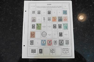E27 Lot of Haiti stamps 1881-1914 hinged on 9 Minkus Album Pages