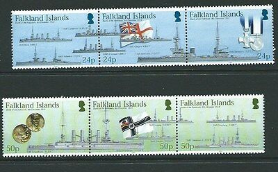 FALKLAND ISLANDS SG1002/7 90th ANNIV OF THE BATTLE OF FALKLAND ISLANDS MNH