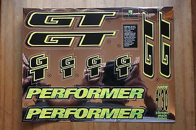 Reproduction 1994 GT Performer BMX Decal Set - Chrome Backing