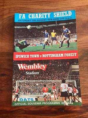 Ipswich V Nottingham Forest 1978 Fa Charity Shield Programme Free Post Look