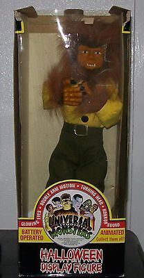 Vtg. Animated Telco Universal Studios Monsters Wolf Man Motionette Halloween Fig