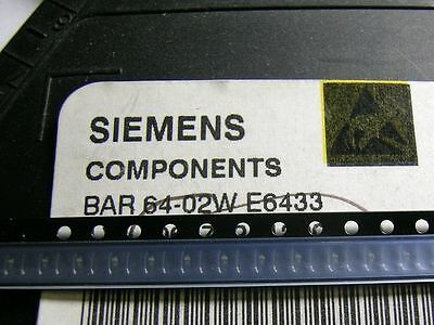 3 Stück BAR64-02W SIEMENS PIN Switch/Attenuator Diode up to 3GHz SCD80 (M6235)