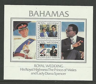 BAHAMAS 1981  Royal Wedding  umm / mnh  miniature sheet