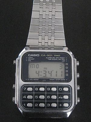 Vintage Working Casio Ca-901 Calculator Game Watch Nice Condition