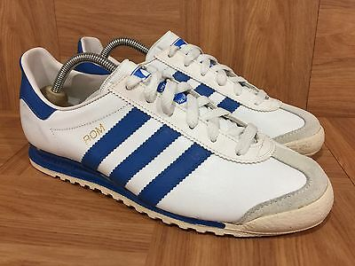 RARE🔥 Adidas ROM Made In USA Men's Vintage Sneakers SZ 6 White Classic Blue Men