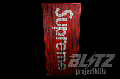 Supreme Bamboo Beaded Curtain Accessory Red Box Logo Ss17 2017
