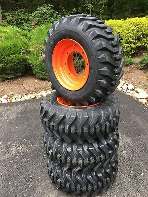 4 NEW 12-16.5 Skid Steer Tires/Wheels/Rims for Bobcat A300,A770,S750,S770,S850