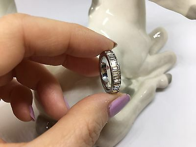 Swarovski Ring Rhodium Plated Clear Crystals Size 52 Genuine Authentic