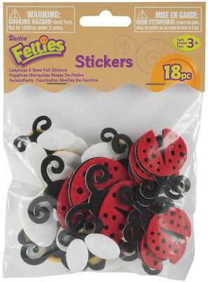 Felties Stickers 18/Pkg Ladybugs & Bees FLT-1005