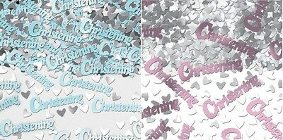 3 x Bags Christening Foil Table Confetti - Boy/Girl Blue/Pink 14g Pack