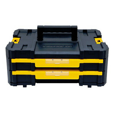 DEWALT TSTAK-4 2-Drawer Stackable Organizer DWST17804 New