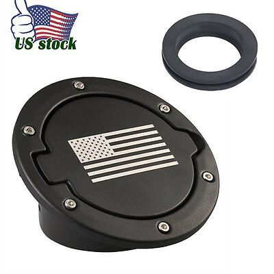 Upgraded Fuel Filler Cover Gas Tank Cap Fit For 07-18 Jeep Wrangler JK&Unlimited
