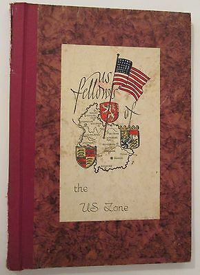 """VINTAGE Military """"Us Fellows of the U.S. Zone"""" Scrapbook w/ photos 1947 Germany"""