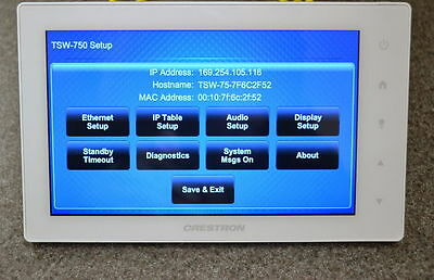 Crestron TSW-750-W-S White Touch Screen Touch Panel Displays