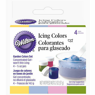 Wilton Garden Tone 4-Piece Colors Set Cake Decorating Food Frosting Coloring New