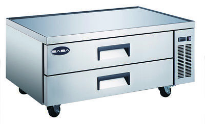 Heavy Duty Refrigerated Commercial Chef Base 52'' with 2 drawers
