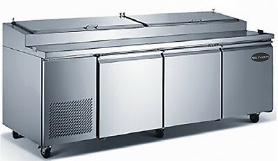 Heavy Duty Commercial Three Door Pizza Prep Table