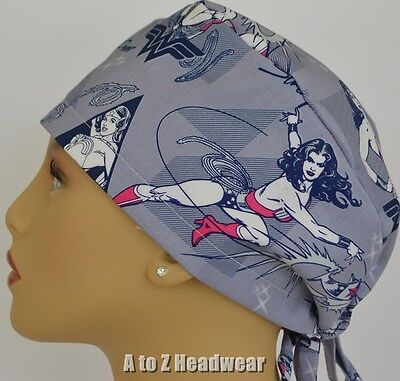 Wonder Woman Strength & Power Lt Blue Surgical Scrub Hat*Limited Availability