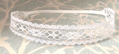 Lace baby tiara headband for christening baptism wedding, UK handmade