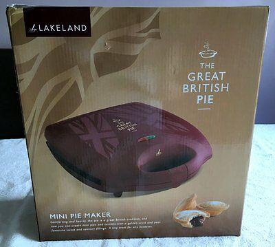 Lakeland Mini Pie Maker The Great British Pie Sweet or Savoury Pastries Used 2 x