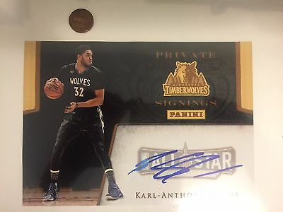 Very Rare Rookie 2015-16 KARL-ANTHONY TOWNS Panini authentic authograph
