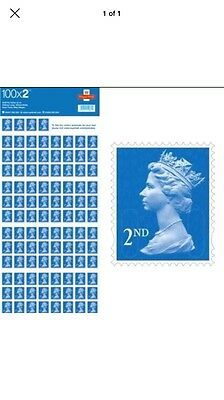 Royal Mail 100 x 2nd class Second class stamps self adhesive