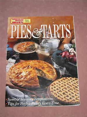 Australian Womens Weekly Cookbook PIES AND TARTS,  recipes chef cooking