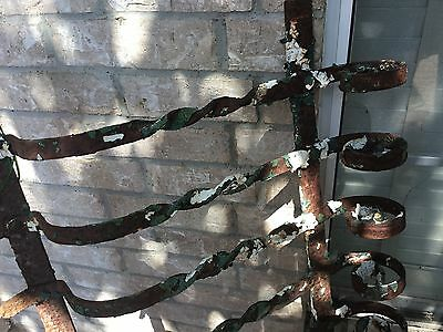 Antique French Iron Architectural Window/gate  Decor