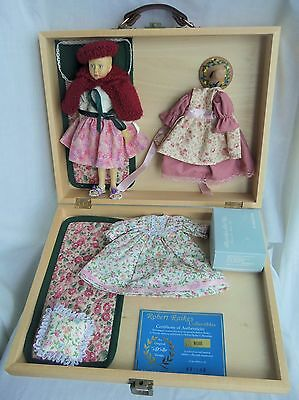 "Robert Raikes 8"" ROSE For The Buffalo Regional Doll Club, Wood Boxed Set #81/100"