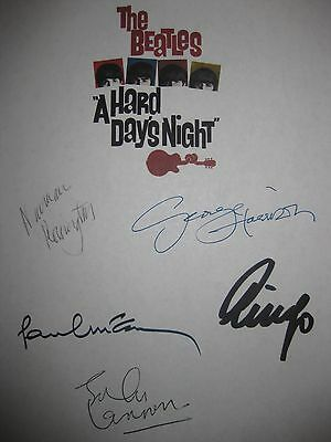 The Beatles A Hard Days Night Signed Film Script John Lennon Paul McCartney rpnt