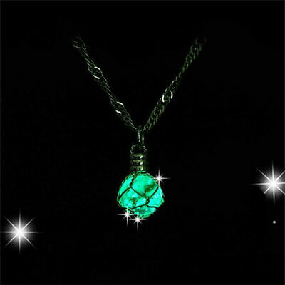 Pendant Chic Crystal Glow In The Dark Magic Jewelry Luminous Ball Necklace