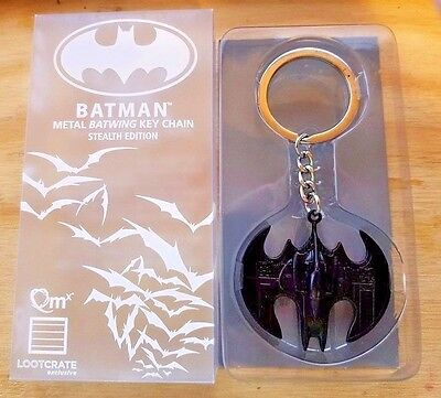 LOOT CRATE EXCLUSIVE Batman Metal Batwing Keychain Stealth Ed.!  Fast Shipping!