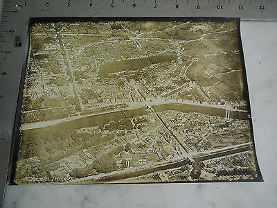 #15 WWI Original Aerial Photo 5th Air Corp Observation 1st Army CHATEAU THIERRY