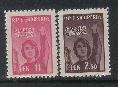 ALBANIA 1960 SPACE ROCKET 50th Anniv WOMENS DAY Olive Branch