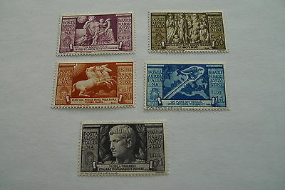 Italy Kingdom Augustus Airmail C 95 To C 99 Mint Hinged