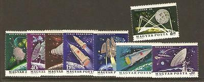 HUNGARY 1964 SPACE ROCKETS Gagarin TELSTAR Tereshkova